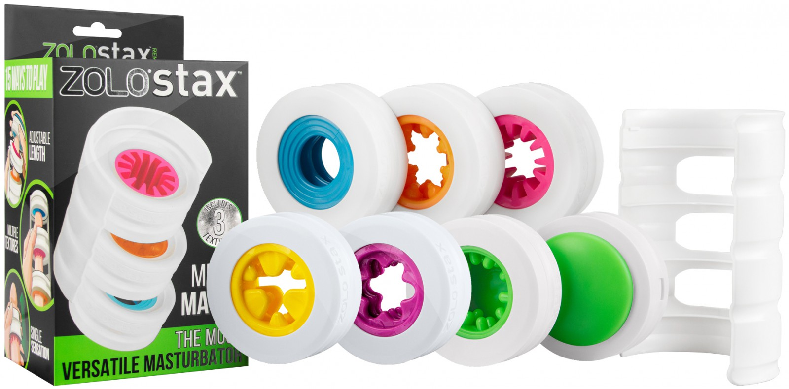 Unikátní erotická pomůcka pro muže - skládací masturbátor ZOLO Stax Mix N Match