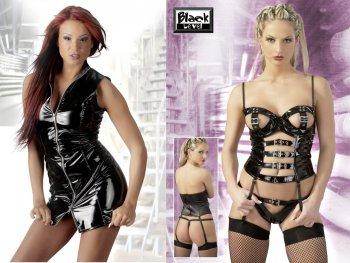 Lack erotické prádlo a lakované doplňky