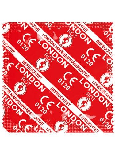 Kondomy s příchutí: Kondom Durex LONDON jahodový