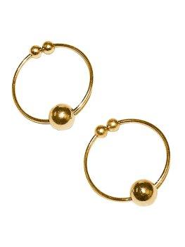 Kroužky na bradavky - falešný piercing, zlaté – Vzrušující intimní šperky, ozdoby a bižuterie