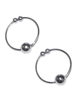 Kroužky na bradavky - falešný piercing, stříbrné – Vzrušující intimní šperky, ozdoby a bižuterie
