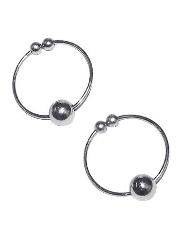 Vzrušující intimní šperky, ozdoby a bižuterie: Kroužky na bradavky - falešný piercing, stříbrné
