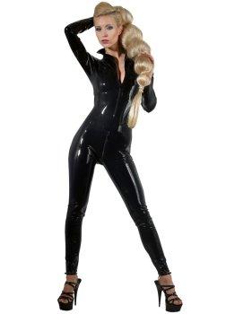 Latexový catsuit se dvěma zipy – Latexové prádlo a oblečení pro ženy
