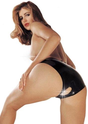 Latexové prádlo a oblečení pro ženy: Latexové kalhotky s otevřeným rozkrokem