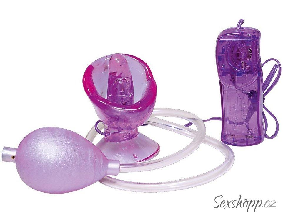 Vibrační vakuová pumpa na klitoris Vagina Kiss
