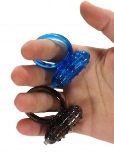 Vibrační erekční kroužek Vibro Ring, modrý