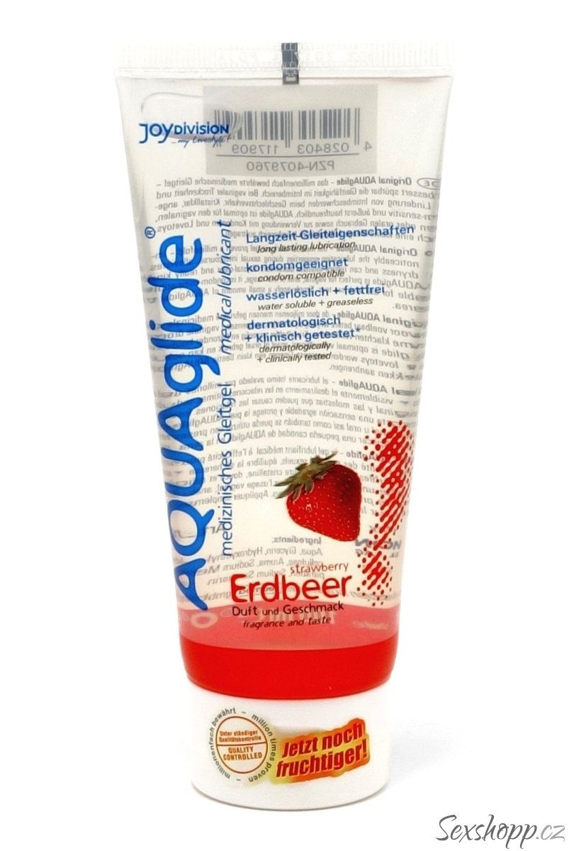 Lubrikační gel Aquaglide jahoda