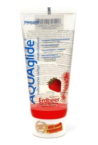Lubrikační gely s příchutí a na orální sex: Lubrikační gel Aquaglide jahoda