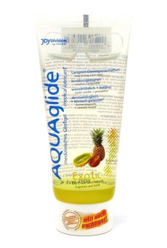 Lubrikační gely s příchutí a na orální sex: Lubrikační gel Aquaglide exotické ovoce
