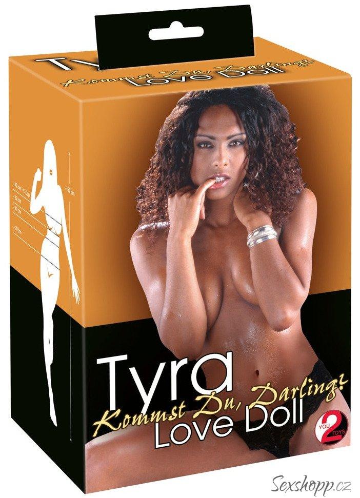 Nafukovací panna Tyra (černoška)