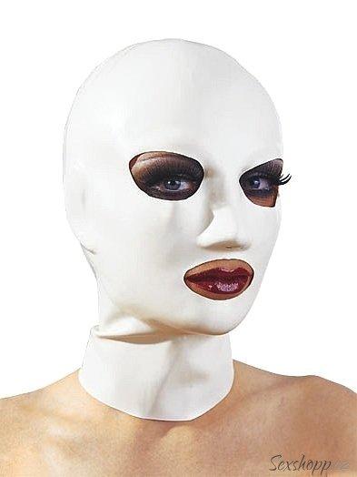 Bilá latexová maska