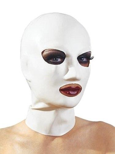 Latexové prádlo a oblečení pro ženy: Latexová maska - bílá, unisex