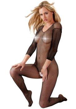 Síťovaný catsuit s otvorem v rozkroku Mandy Mystery – Síťované erotické prádlo
