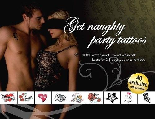 Erotické vzory na tetování: Tetování Get Naugty Party