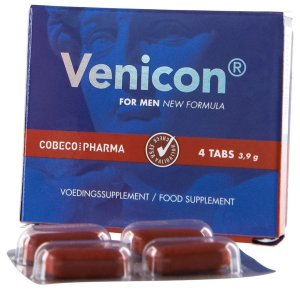 Tablety na lepší erekci Venicon – Přípravky na pevnou a dlouhotrvající erekci