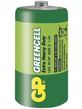 Baterie C GP Greencell, zinkochloridová – Baterie do erotických pomůcek, powerbanky