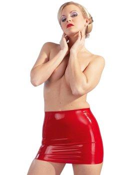 Latexová minisukně, červená – Latexové prádlo pro ženy