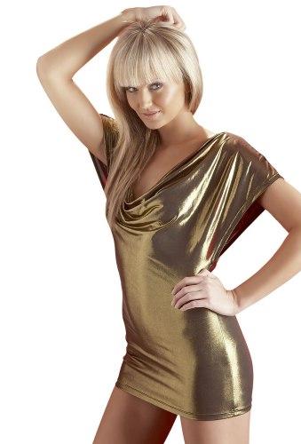 Sexy šaty a minišaty: Zlaté minišaty