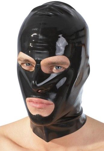 Latexové oblečení pro muže: Latexová maska - černá, unisex