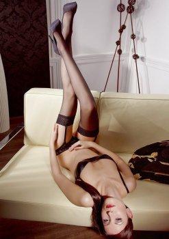 Černé punčochy na podvazky – Dámské punčochy, punčochové kalhoty a ponožky