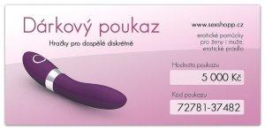Dárkový poukaz 5000 Kč – Dárkové poukazy na erotické zboží