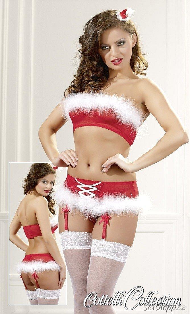Vánoční set Cottelli (podprsenka a kalhotky)