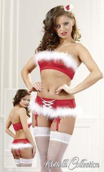 Vánoční set Cottelli (podprsenka a kalhotky) – Erotické prádlo s tématem Vánoc