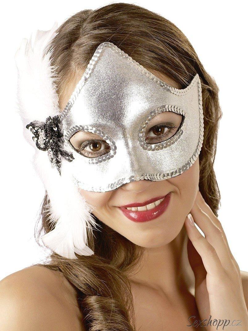 Stříbrná maska na oči