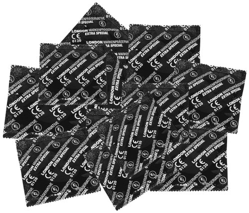 Výhodné balíčky kondomů: Balíček kondomů LONDON EXTRA SPECIAL 45+5 ks zdarma