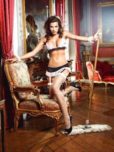 Dámské sexy kostýmy pro roleplay: Kostým Francouzská služebná - Do Not Disturb French Maid