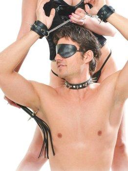 Kožená BDSM sada Rock Hard – Sady BDSM pomůcek