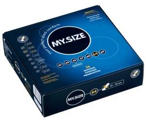 Kondom MY.SIZE 64 mm, 1 kus – XL a XXL kondomy pro velké penisy