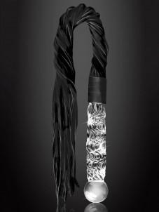 Luxusní bič/důtky ze skla a kůže ICICLES No. 38