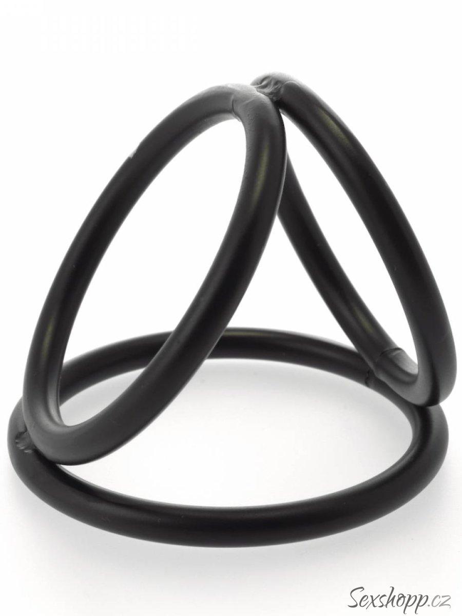 Trojitý kroužek na penis a varlata