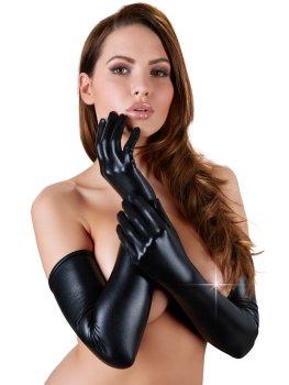 Extra dlouhé lesklé rukavice – Erotické rukavice a návleky na ruce