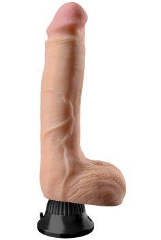 Realistický vibrátor s varlaty Real Feel Deluxe No. 7 (28 cm) – Realistické vibrátory