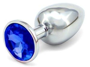 Anální šperk - tmavě modrý, větší (8 cm)