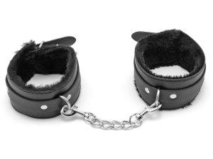 Pouta na nohy s kožíškem – Pouta, lana a pásky na bondage (svazování)