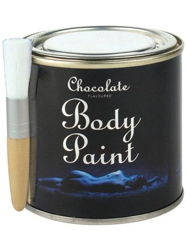 Bodypainting, malování na tělo: Čokoládový bodypainting v plechovce
