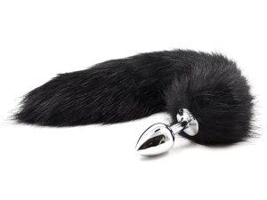 Anální kolík liščí ocásek, černý – Anální kolíky s ocáskem
