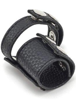 Pomůcky na mučení penisu a varlat (CBT): Erekční pásek s natahovákem varlat