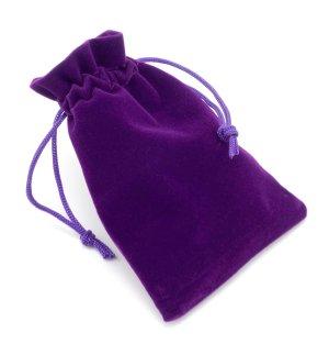 Dárkový sametový pytlík - fialový, 9x12 cm – Dárkové tašky a krabičky