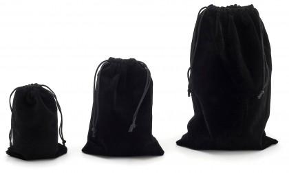 Dárkový sametový pytlík - černý, 20x30 cm