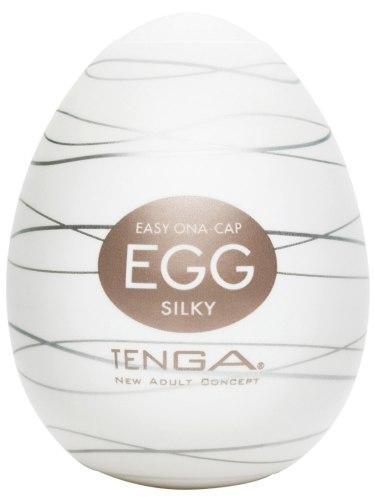 Masturbátory bez vibrací (honítka) - pro muže: Masturbátor TENGA Egg Silky