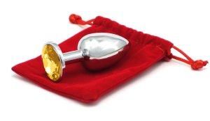 Anální šperk  - zlatý, malý (7,5 cm)