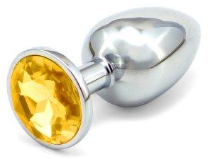 Anální kolík se šperkem, zlatý – Anální kolíky se šperkem
