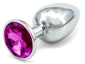 Anální kolík se šperkem, tmavě fialový – Anální kolíky se šperkem