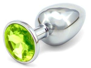 Anální kolík se šperkem, světle zelený – Anální kolíky se šperkem