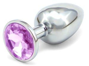Anální kolík se šperkem, světle fialový – Anální kolíky se šperkem