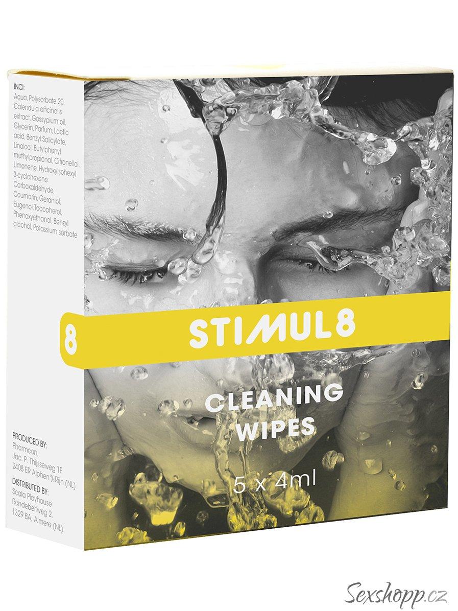 Stimul8 - čisticí ubrousky na erotické pomůcky